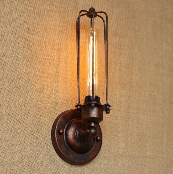 Historické nástenné svietidlo s rovnou klietkou v bronzovej farbe 2 AKCIE !
