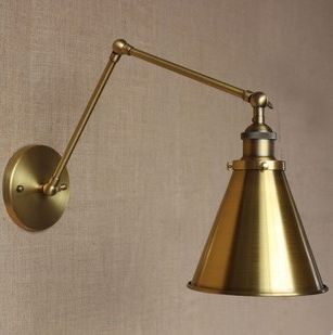 Retro nástenná lampa Shadeness v zlatej farbe (5)
