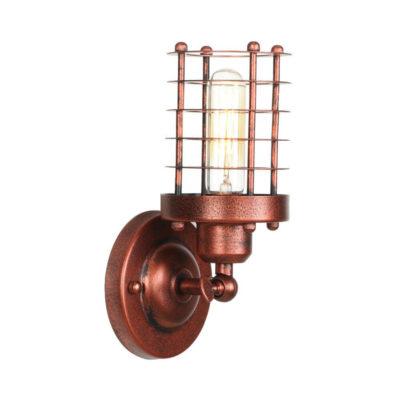 Retro nástenné svietidlo Stair v staro medenej farbe..