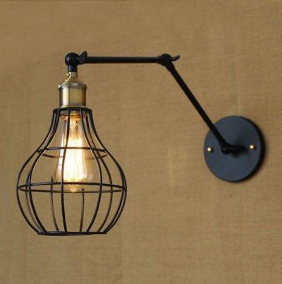 Starodávna nástenná lampa Evening s klietkou (2)