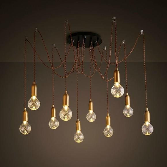 Historické závesné svietidlo Chobotnica na žiarovky typu G9 je svietidlo určené na strop v chobotnicovom vzhľade 1 580x580 AKCIE !