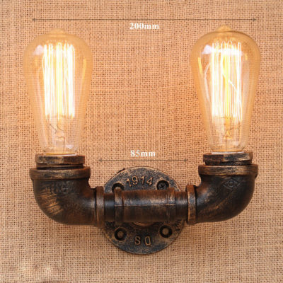 Priemyselné nástenné svietidlo Cloche s dvomi päticami1