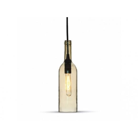 Historické závesné svietidlo Bottle Amber so skleneným tienidlom 580x580 AKCIE !