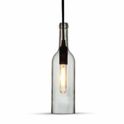 Historické závesné svietidlo Bottle so skleneným tienidlom