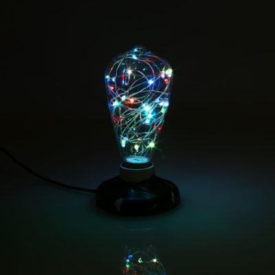Dekoračná LED žiarovka EDISON, E27, 150lm, Teardrop, RGB (2)