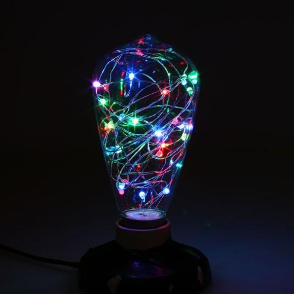 Dekoračná LED žiarovka EDISON E27 150lm Teardrop RGB 1 580x580 AKCIE !