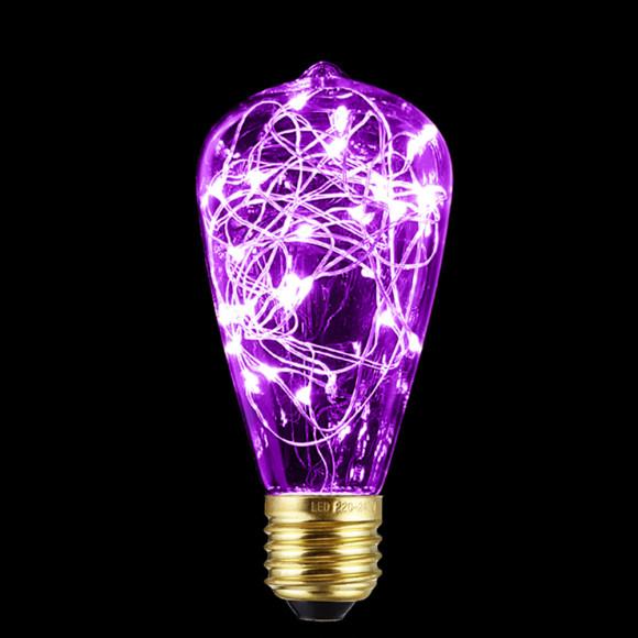 Dekoračná LED žiarovka EDISON E27 150lm Teardrop Ružová 580x580 AKCIE !