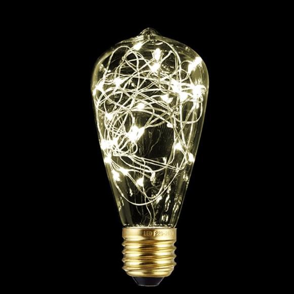 Dekoračná LED žiarovka EDISON E27 150lm Teardrop Teplá biela 1 580x580 AKCIE !