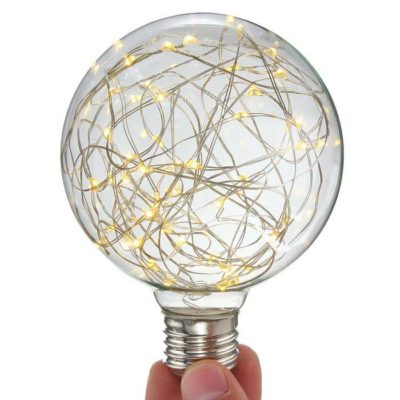 Dekoračná LED žiarovka EDISON, E27, 150lm, Globus, Teplá biela.