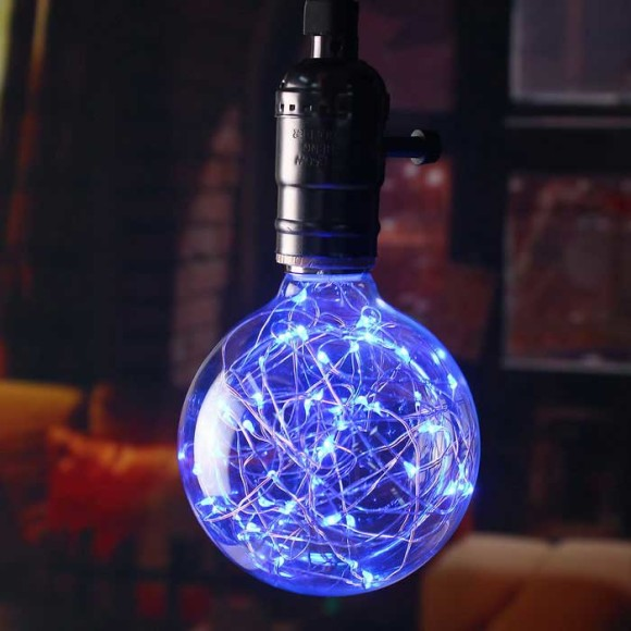 Dekoračná LED žiarovka EDISON E27 150lm Globus Modrá 580x580 AKCIE !