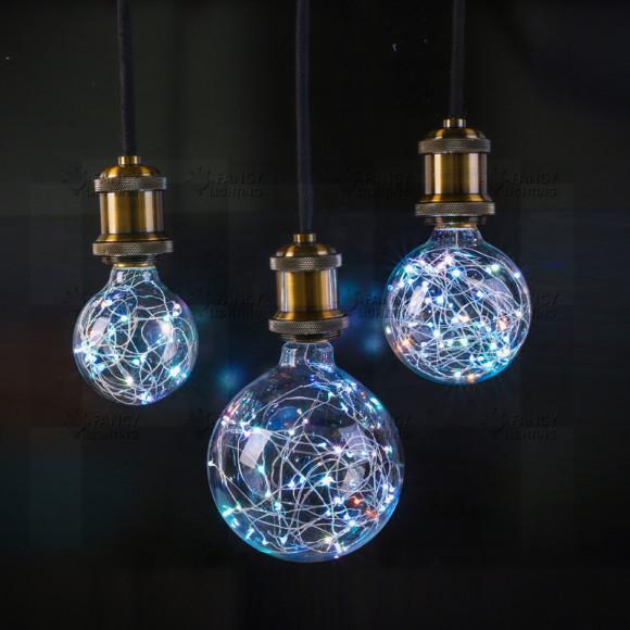 Dekoračná LED žiarovka EDISON E27 150lm Globus RGB. 580x580 AKCIE !