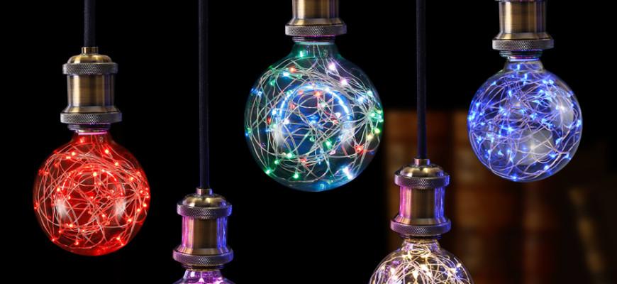 Moderný dizajn žiaroviek