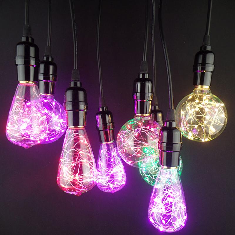 Vďaka dynamickému dizajnu tieto žiarovky napodobňujú klasicky štýl EDISON žiaroviek avšak s využitím moderných LED diód vo farbách 1 Dekoračné žiarovky z kolekcie RGB EDISON