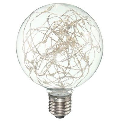 Žiarovky majú tradičný typ retro žiaroviek a disponujú novou LED technológiou čipov umiestnených vnútri žiarovky