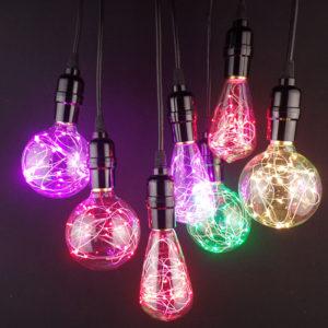 Žeravé vlákna sú nahradené LED studenými diódami 1 300x300 Dekoračné žiarovky z kolekcie RGB EDISON