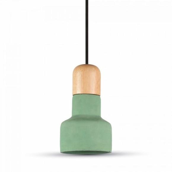 Betónové závesné svietidlo Wood v zelenej farbe
