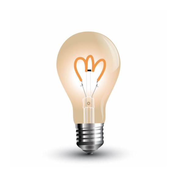 FILAMENT žiarovka - Curve Classic - E27, 3W, 300lm, Teplá biela