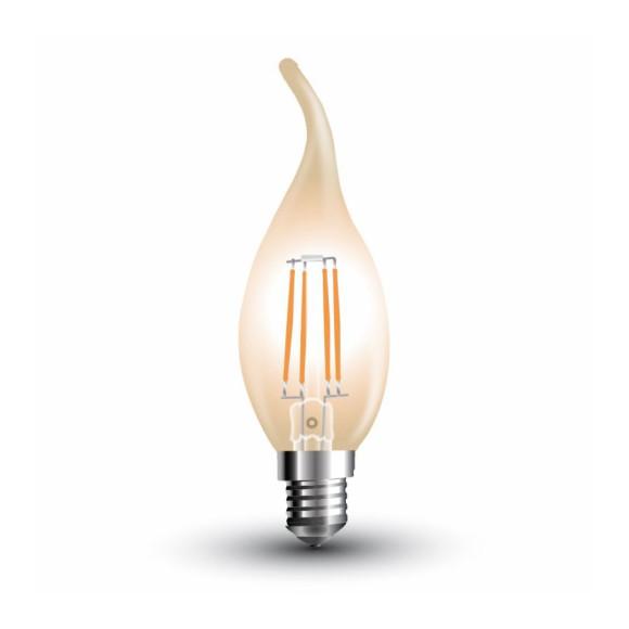 FILAMENT žiarovka - Spike Candle - E14, 4W, 350lm, Teplá biela