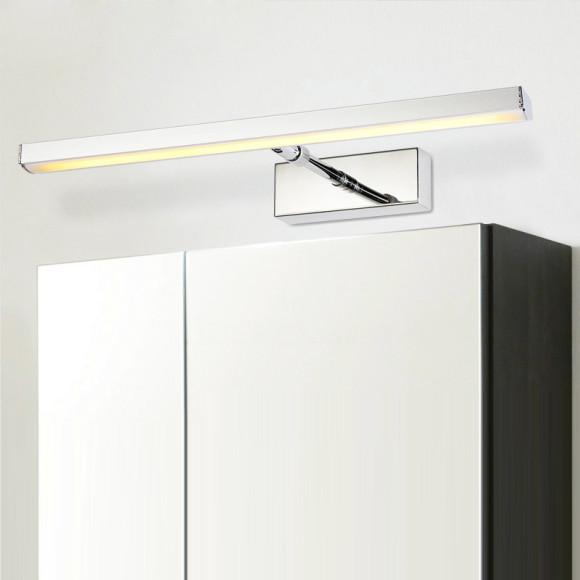LED 7W nástenné svietidlo s nerezovej ocele, teplá biela (1)