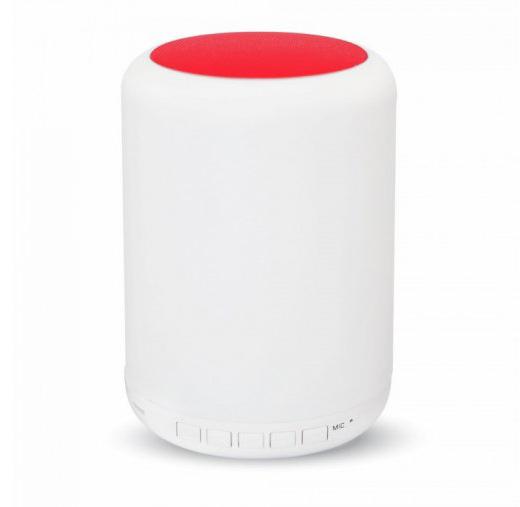LED Stolová lampa s bluetooth reproduktorom, dotykové ovládanie, červená farba3