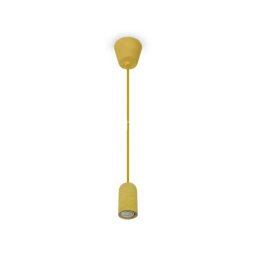 Závesné betónové svietidlo Simple v žltej farbe