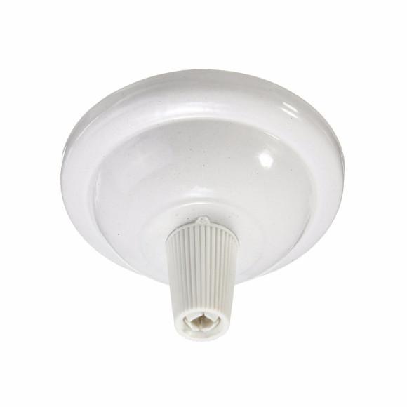 Závesný-okrúhly-stropný-držiak-s-bielym-plastovým-zámkom-•-kovový-•-biela