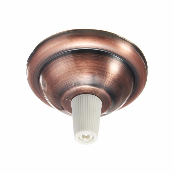 Závesný-okrúhly-stropný-držiak-s-bielym-plastovým-zámkom-•-kovový-•-bronzová