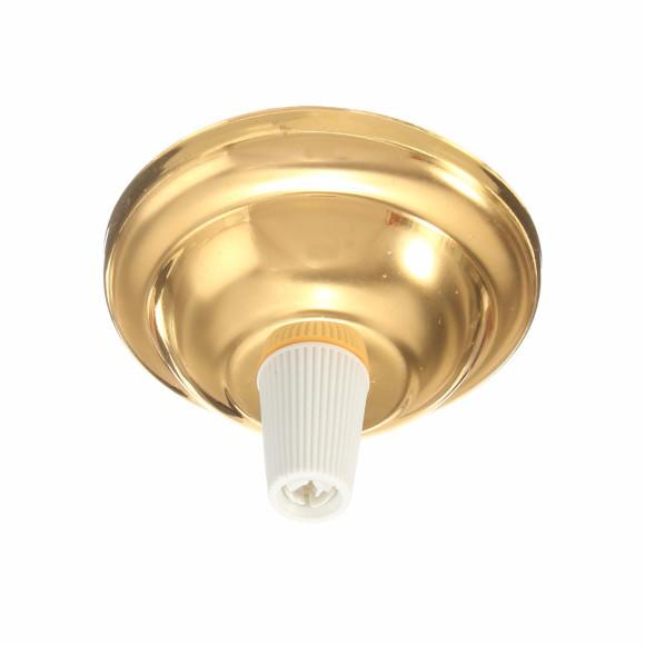 Závesný-okrúhly-stropný-držiak-s-bielym-plastovým-zámkom-•-kovový-•-jantárová-zlatá