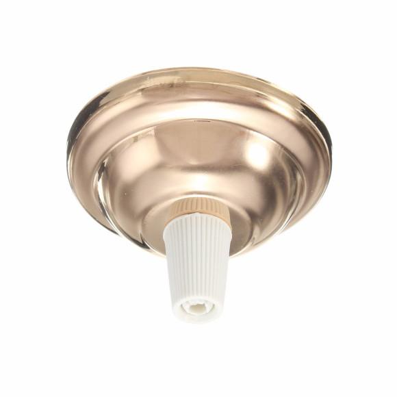 Závesný-okrúhly-stropný-držiak-s-bielym-plastovým-zámkom-•-kovový-•-svetlo-zlatá