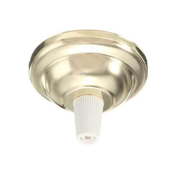 Závesný-okrúhly-stropný-držiak-s-bielym-plastovým-zámkom-•-kovový-•-zlatá