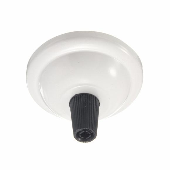 Závesný-okrúhly-stropný-držiak-s-plastovým-zámkom-•-kovový-•-biela