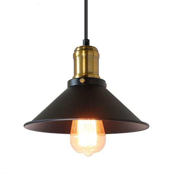 Historické závesné svietidlo v čiernej farbe 220mm 580x580 AKCIE !