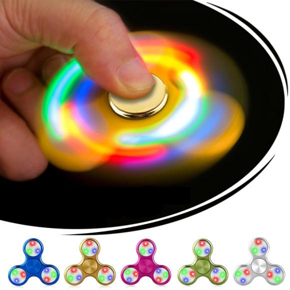 LED Fidget spinner – Odbúravanie stresu – Chrome1 580x580 AKCIE !