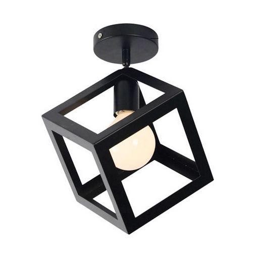 Moderné stropné svietidlo Kocka v čiernej farbe (3)