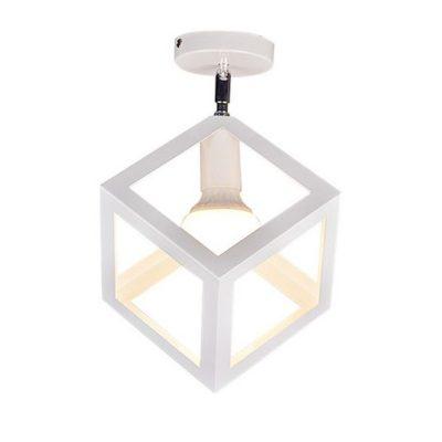 Moderné stropné svietidlo Kocka v bielej farbe (1)