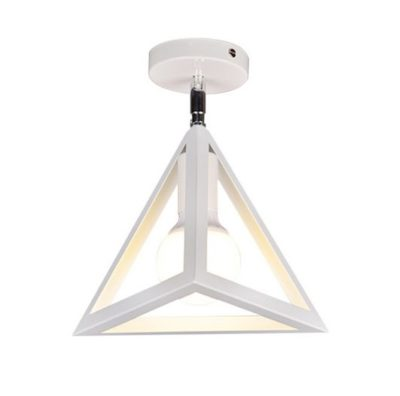 Moderné stropné svietidlo Trojuholník v bielej farbe (1)