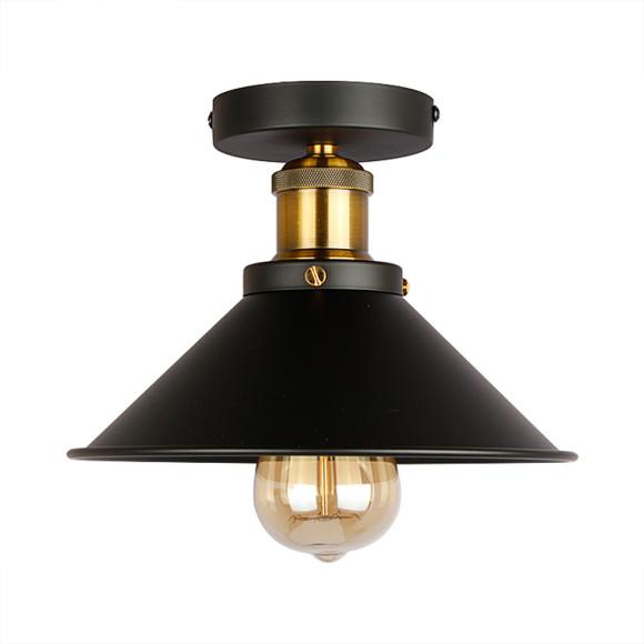 Stropné svietidlo historické s čiernym tienidlom. Svietidlo je vhodné ako hlavné osvetľovacie svietidlo do hotelov, barov, reštaurácií, hál.6