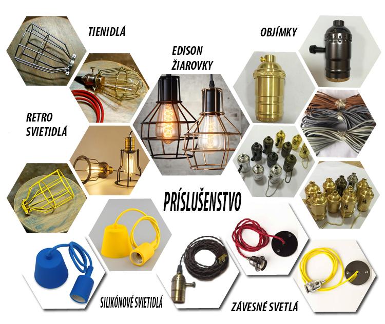 Príslušenstvo k svietidlám, tienidla, objimky, ziarovky, svetlaPríslušenstvo k svietidlám, tienidla, objimky, ziarovky, svetla