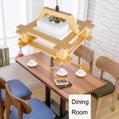 Závesné originálne drevené svietidlo. Drevené svietidlo je moderným umením a vytvára prírodný umelecký produkt v podobe dreveného závesného svietidla. (4)