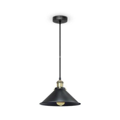 Kovové-historické-svietidlo-závesné-s-čiernym-tienidlom-je-vhodné-ako-dekorácia-do-obývacej-izby-kuchyne-jedálne-spálne-reštaurácie-baru
