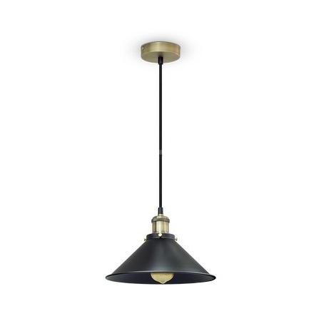 Kovové historické svietidlo závesné s čiernym tienidlom je vhodné ako dekorácia do obývacej izby, kuchyne, jedálne, spálne, reštaurácie, baru