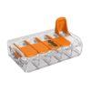 Lustrová svorka WAGO - pätpólová. Testované v zhode s EN 60998 normou. Terminál (spojka) bez skrutiek pre spájanie elektrických káblov