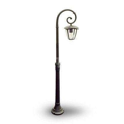 Stojanová záhradná historická lampa POLE v čiernej farbe