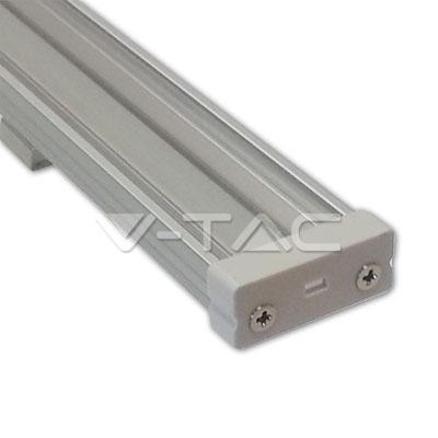 Hliníkový profil pre LED pás, Široký plochý uzáver, Transparentný, 1 meter