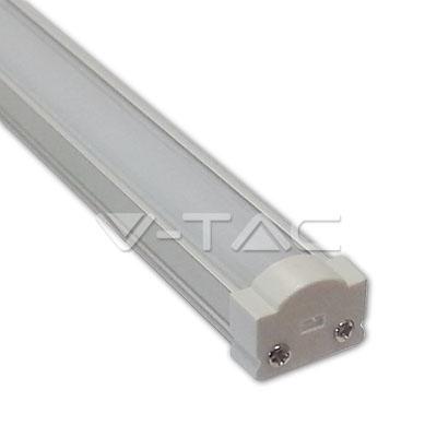 Hliníkový profil pre LED pás, Úzky okrúhly uzáver, Matný, 1 meter