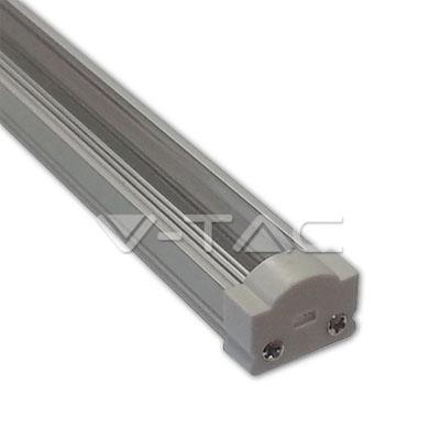 Hliníkový profil pre LED pás, Úzky okrúhly uzáver, Transparentný, 1 meter