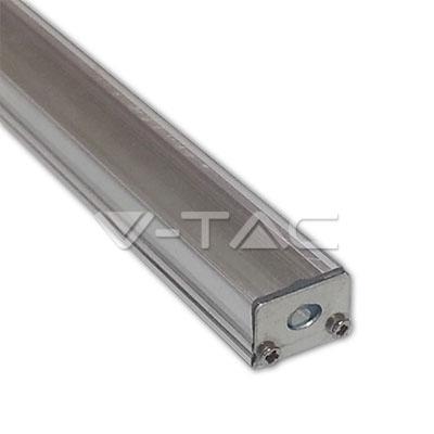 Hliníkový profil pre LED pás, Úzky plochý uzáver, Matný, 1 meter