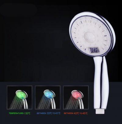 Kvalitná sprchová hlavica LED s digitálnym teplomerom, 3 farby (1)
