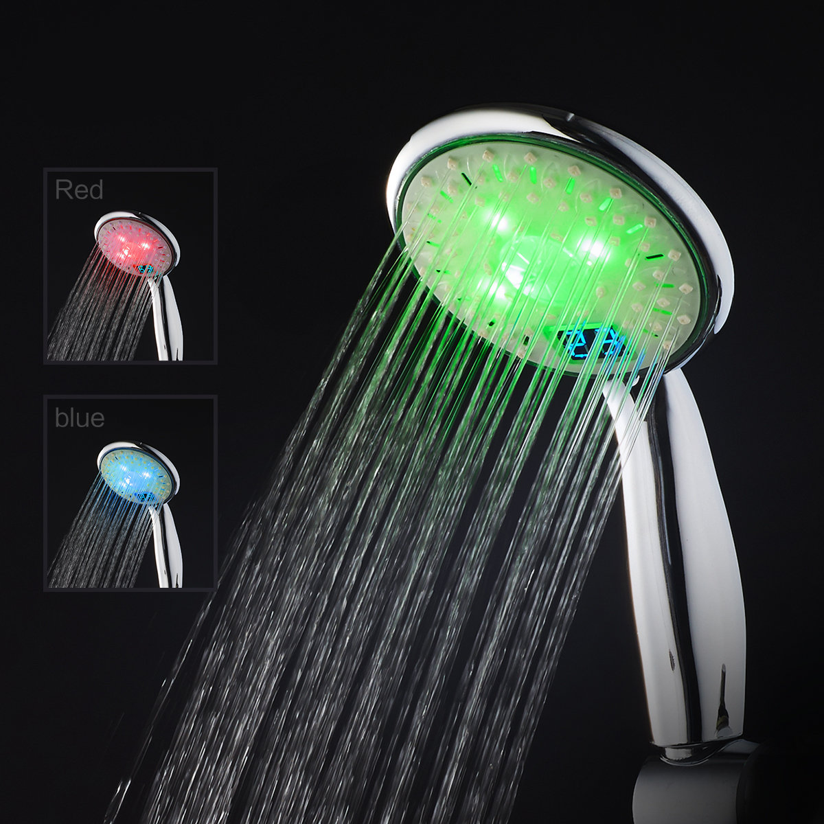 Kvalitná sprchová hlavica LED s digitálnym teplomerom, 3 farby (2)