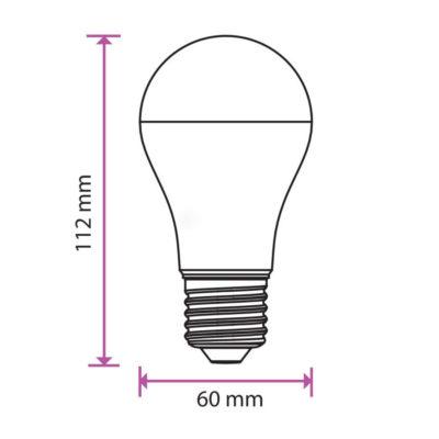 LED žiarovka s farebným krytom